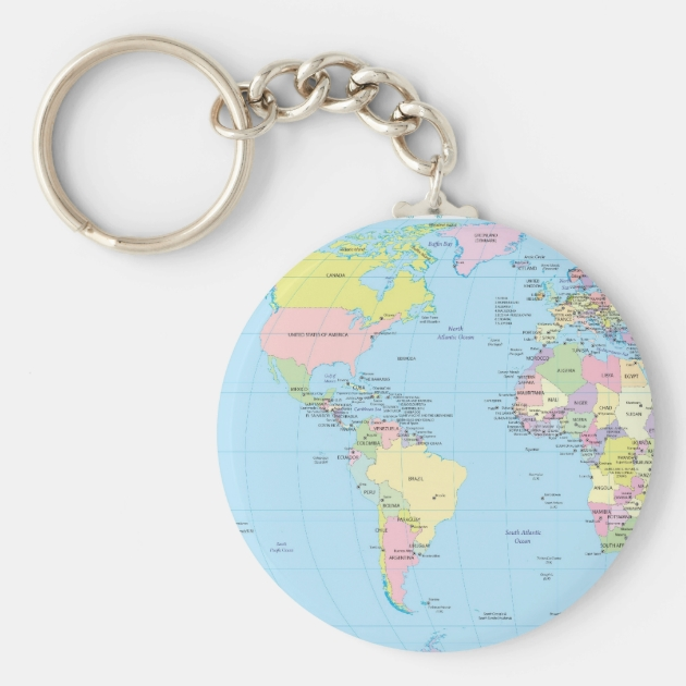 World map keyring world map keyring world map keychains map key ring with world map keychain zazzle world map keyring sciox Images